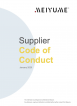 Code of Conduct Meiyume